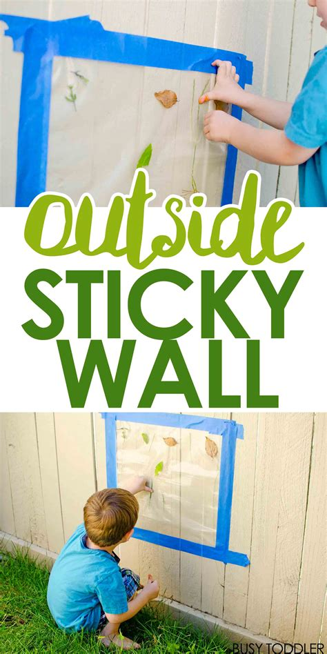 outside sticky wall busy toddler 767 | outdoorstickywallPIN