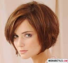 Short Layered Bob Hairstyle with Bangs