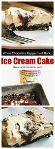 White Chocolate Peppermint Bark Ice Cream Cake - Reluctant ...
