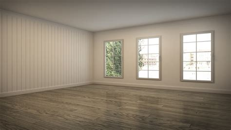 Empty Living Room With Furniture
