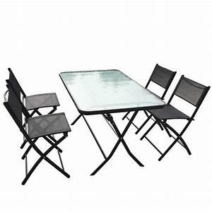 Table Salon Pliante : table pliante 4 chaises maison design ~ Teatrodelosmanantiales.com Idées de Décoration