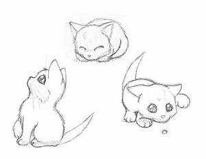 Cute Kitten Drawings Easy Cat - Litle Pups