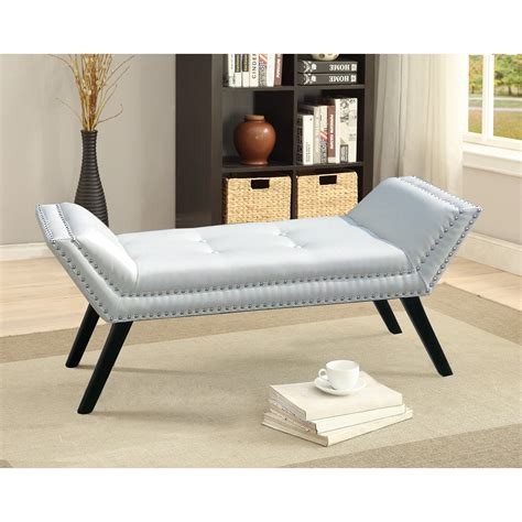 baxton studio tamblin white faux leather upholstered