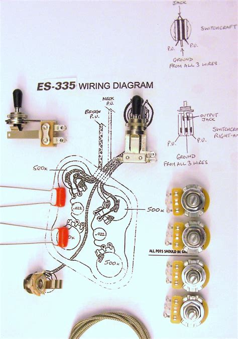 Wiring Kit For With Right Angle Switchcraft Toggle Switch