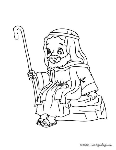 dibujos para colorear san jose sentado es hellokids