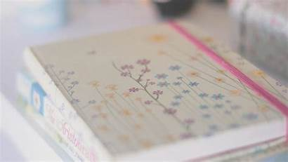 Diary Books Flowers Wallpapers Pastel Notebook Journal