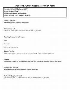 madeline hunter lesson plan format template google With itip lesson plan template