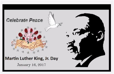 celebrate peace mlk day martin luther king jr day ecards