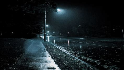 night rain wallpaper