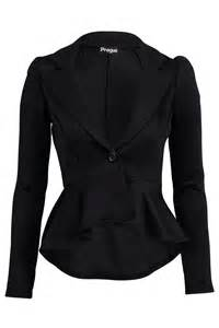 ladies fitted smart jacket womens new black dipped hem