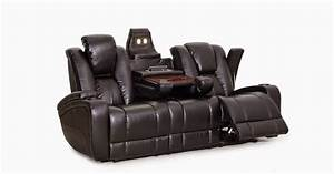 Best leather reclining sofa brands reviews alden leather for Leather sectional sofa with electric recliners