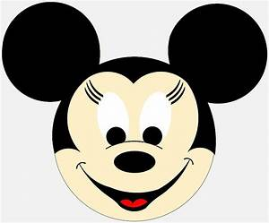 best photos of mickey mouse face outline mickey mouse With minnie mouse cake template free