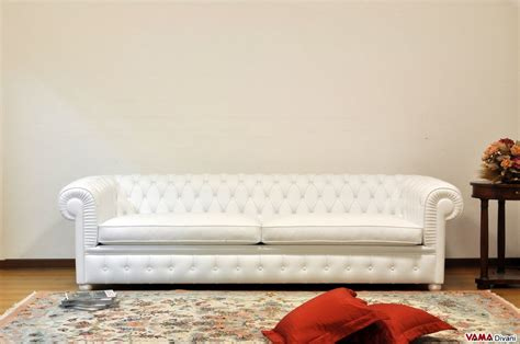 Deeper Chesterfield White Sofa