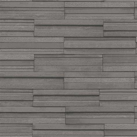 fine decor dark grey ceramica slate tile wallpaper