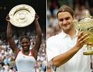 Wimbledon 2003 singles winners Roger Federer and Serena ...