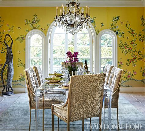stylish dinner in a showhouse traditional home
