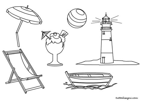 estate disegni da colorare tuttodisegnicom