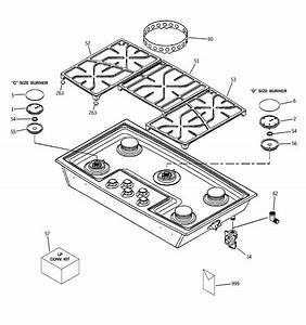 Cooktop Appearance Parts Diagram  U0026 Parts List For Model