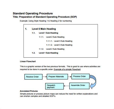 sample sop templates   google docs excel