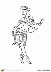 a colorier une jolie danseuse hawaienne avec un collier et With affiche chambre bébé avec chemise à fleur hawaienne