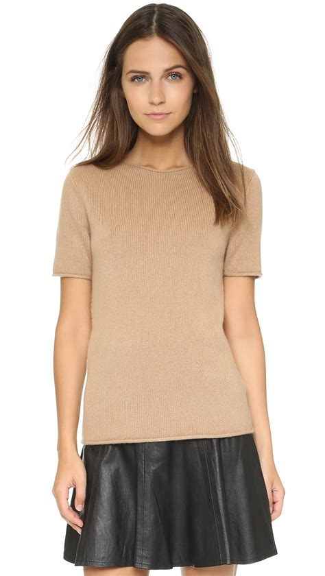 sweater shorts theory tolleree sleeve sweater in
