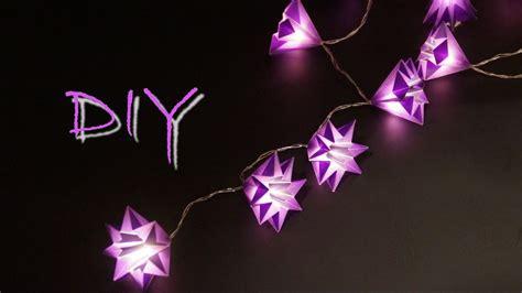 lichterkette selber machen basteln mit papier zu weihnachten sch 246 ne sterne lichterkette selber basteln diy