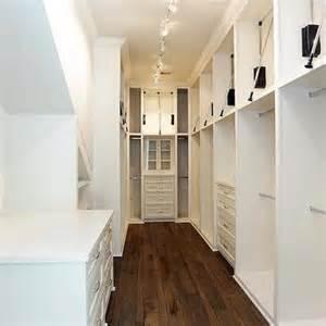 and narrow walk through closet design ideas