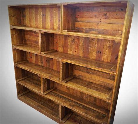 antique pallet bookcase built  crate style wooden