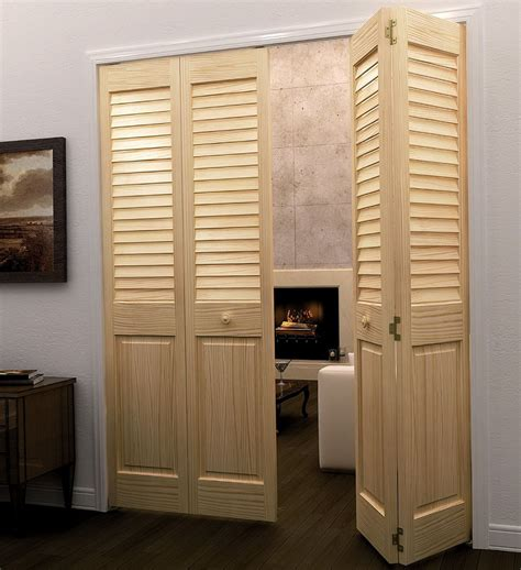 louvered bifold closet doors   stylish  practical