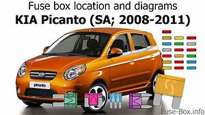 Fuse Box Location And Diagrams  Kia Picanto  Sa  2008