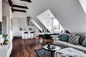 Appartement Sous Comble : un 56m2 am nag sous des combles picslovin ~ Dallasstarsshop.com Idées de Décoration