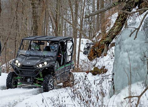 winter tips side atv riding machine tech snow season riders go