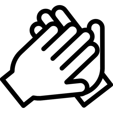 clap hands gestures emoticon clapping gesture icon
