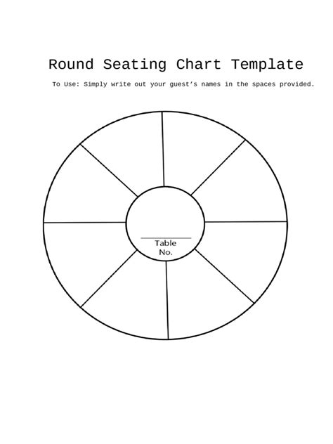 seating chart template fillable printable