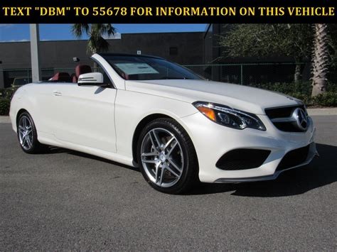 New 2017 Mercedesbenz Eclass E 550 Convertible In