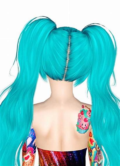 Anime Ponytail Sims Retextured Jas Hairstyle Peggy