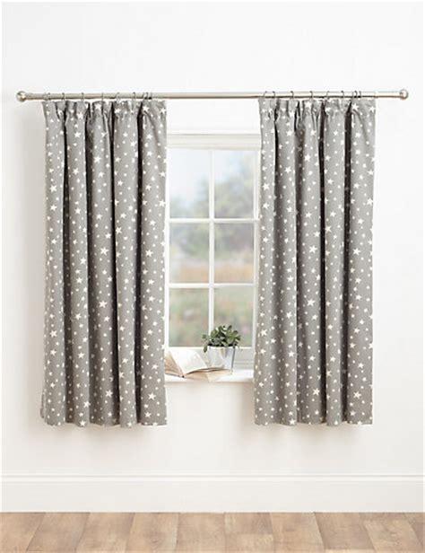 star print pencil pleat curtains ms