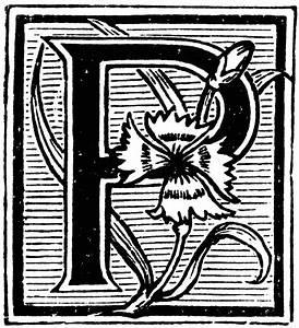 Floral decorative p clipart etc for Decorative letter p