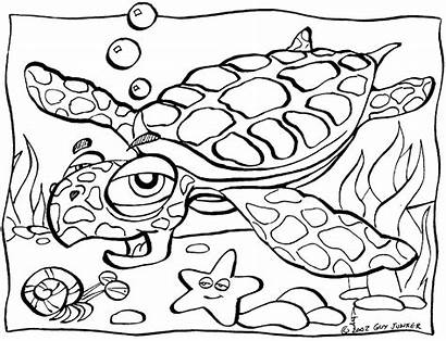 Coloring Sea Turtle Pages