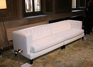 Seats Sofas : hall straight sofa 3 seats leather version white by driade made in design uk ~ Eleganceandgraceweddings.com Haus und Dekorationen