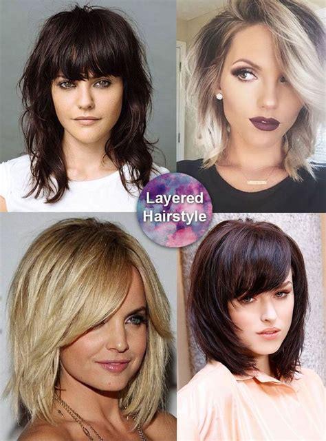 medium length hairstyles curly  straight