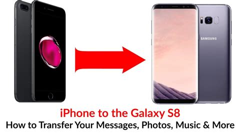how to transfer messages to new iphone iphone to galaxy s8 how to transfer your messages phot
