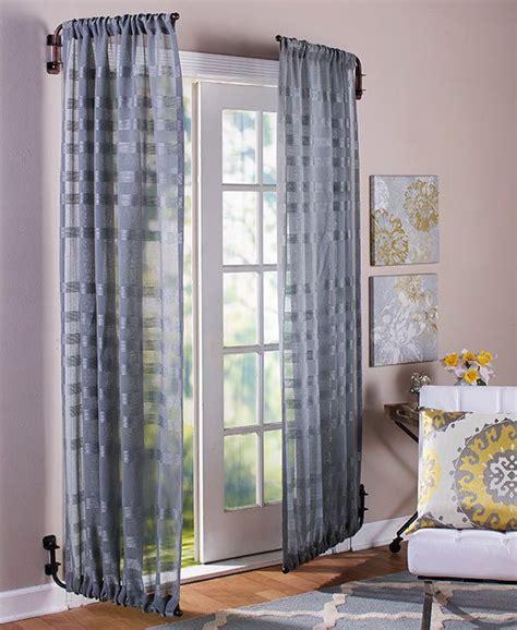 adjustable curtain rods swing arm bronze  rod