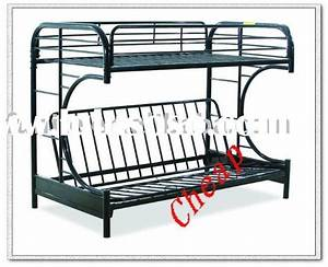 Black metal futon bunk bed assembly instructions bm for How to put together a futon bunk bed