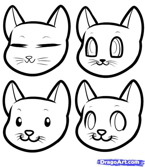draw anime cats anime cats step  step drawing sheets