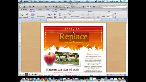 How To Create A Template In Word Create A Newsletter Using Microsoft Word Templates