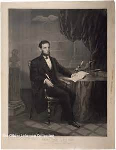 Abraham Lincoln Signing Emancipation Proclamation