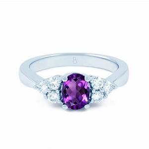 18ct white gold amethyst diamond vintage engagement ring for Amethyst wedding ring