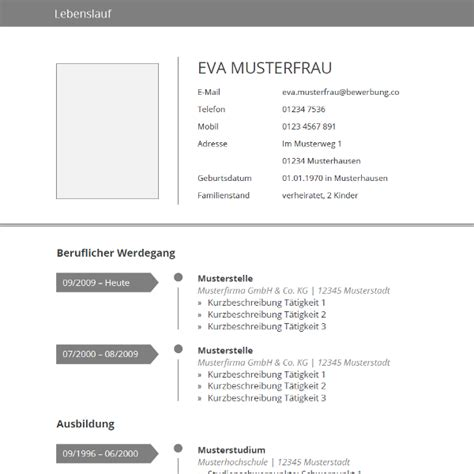 Lebenslauf Unterlagen by Vorlage Grau Tabellarischer Lebenslauf