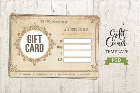 gift card template psd certificate creative templates